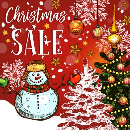 vente de noël bannière de vacances d & # 39 ; hiver discount