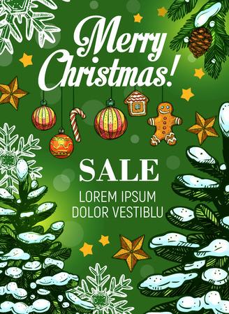 Weihnachtsverkauf und Neujahr Rabatt Angebot Banner