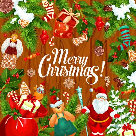 Weihnachtsgruß-Kartendesignschablone. Standard-Bild - 88631438