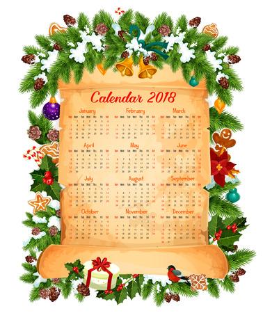 Christmas 2018 calendar design