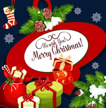 크리스마스 휴가 소원 인사말 카드