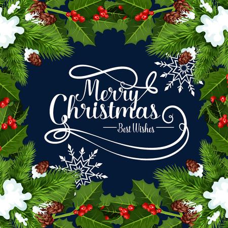Frohe Weihnachten Urlaub Grußkarte Standard-Bild - 88633491
