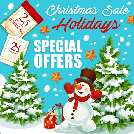 Christmas holiday sale special offer banner Illustration