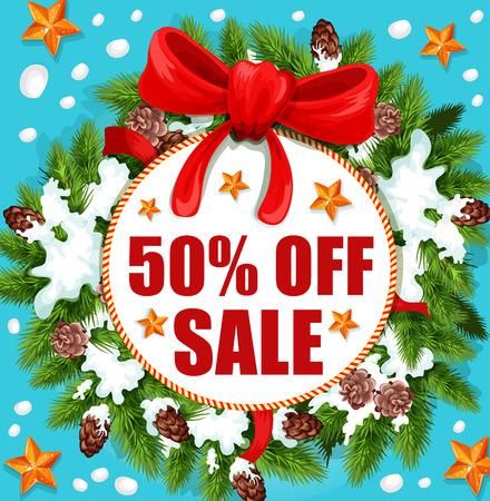 Christmas holidays sale banner design