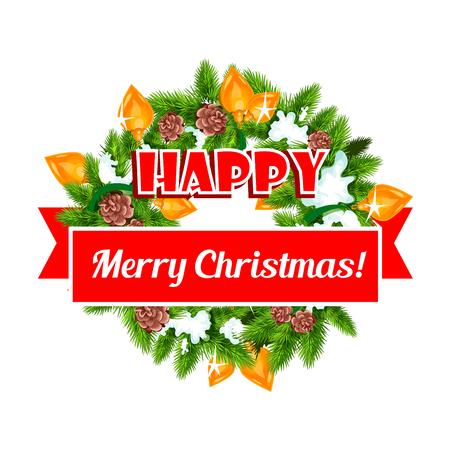 メリー クリスマス バナー。  イラスト・ベクター素材