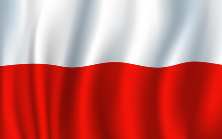 Poland vector 3D flag background national symbol