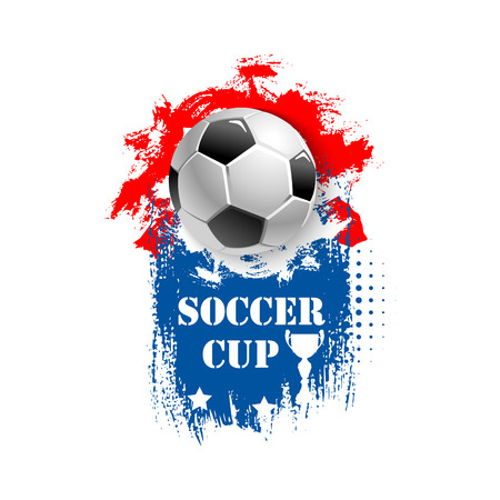 Vector for soccer cup emblem for football club Ilustracja
