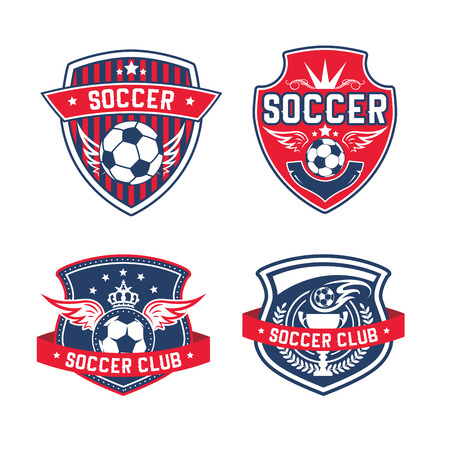 Soccer team or football club heraldic vector icon Ilustrace