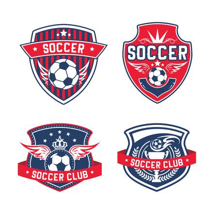 Soccer team or football club heraldic vector icon Illustration