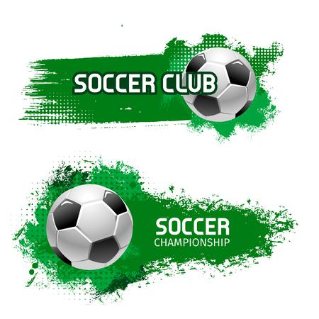 Soccer team club football ball vector icon Vektorové ilustrace