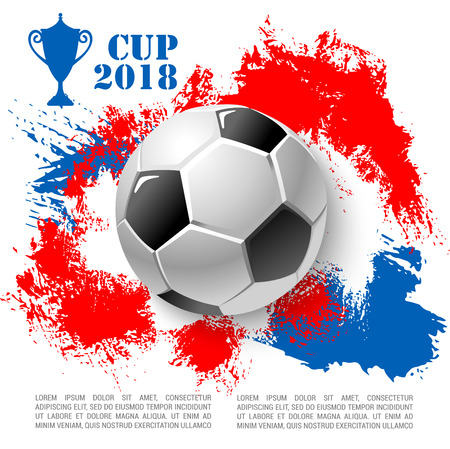 Vector poster for soccer cup or football club