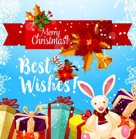 De groet van het de vakantieseizoen van de Kerstmis vectorwinter