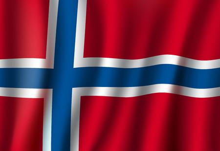 Vector de Noruega símbolo nacional de fondo de bandera 3D Ilustración de vector