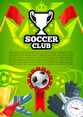 Vector award poster for soccer championship cup