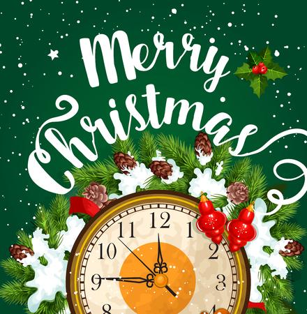 Carte de voeux joyeux Noël vacances vecteur Banque d'images - 89175653