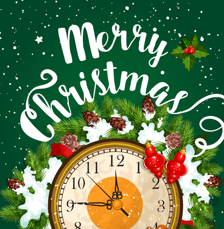 Feliz Navidad vacaciones vector tarjetas de felicitación