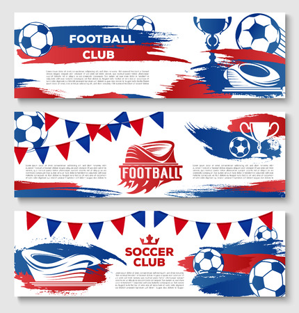 Vector banners for soccer or football club