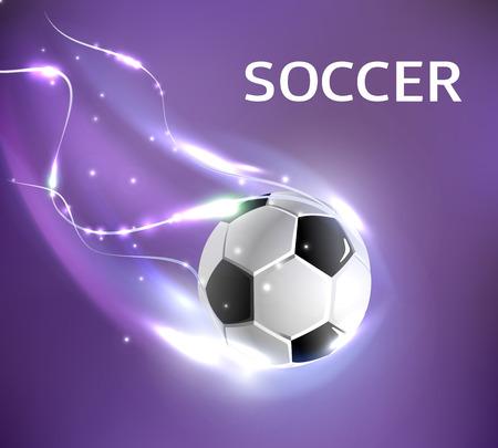 Vector soccer football tournament poster