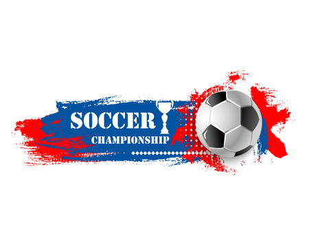 Voetbal sport spel voetbal bal vector banner Stock Illustratie