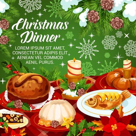Christmas holiday cuisine festive dinner banner