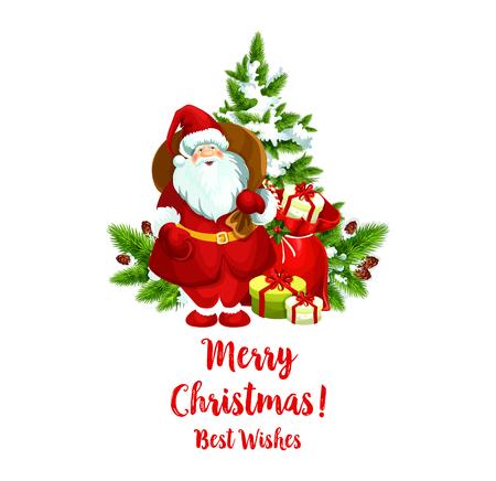 Merry Christmas vector Santa groet pictogram