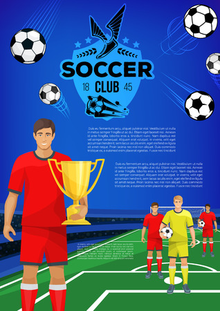 Soccer sport club banner template of football team