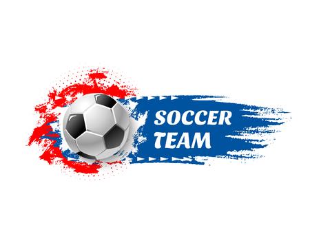 축구 스포츠 게임 팀 축구 공 벡터 아이콘입니다. 일러스트