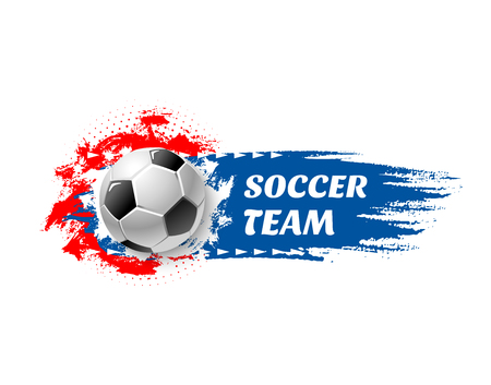 Soccer sport game team football ball vector icon.
