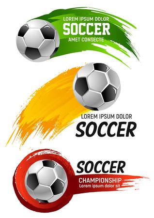 Vector iconen voor voetbal club voetbalkampioenschap Stockfoto - 90587418