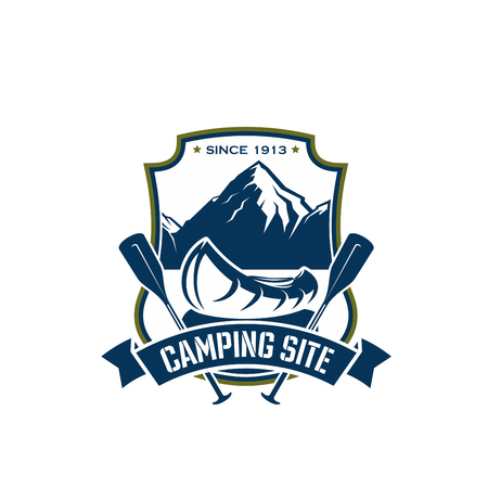 Vector icon for camping site sport adventure Illusztráció