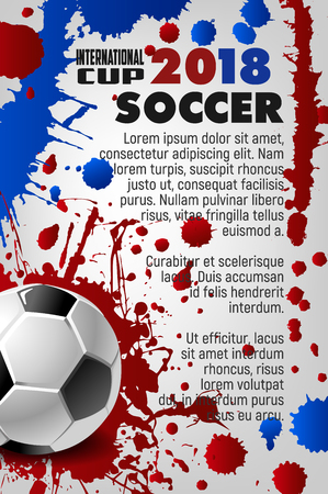 Soccer cup 2018 sport game football vector poster