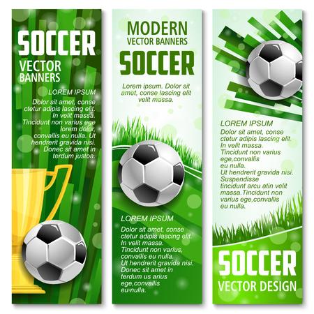 Vector football banners for soccer sport