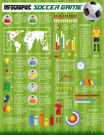 Vector infographics soccer football sport game Ilustracja