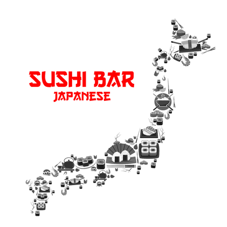 Vector poster for Japanese sushi bar restaurant