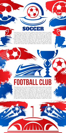 Vector banner for football college league club Ilustrace