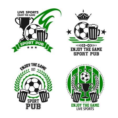 Vector icons for soccer football sport pub