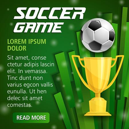 축구 스포츠를위한 벡터 축구 컵 포스터 스톡 콘텐츠 - 90587473