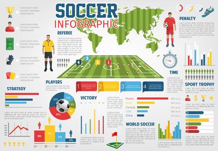 サッカー フットボールの世界のベクター インフォ グラフィック  イラスト・ベクター素材