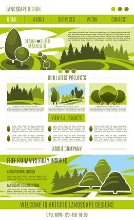 Vector landing page landscape design company