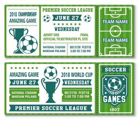 Vector kaartsjabloon voetbal voetbal cup 2018 Stockfoto - 90589058