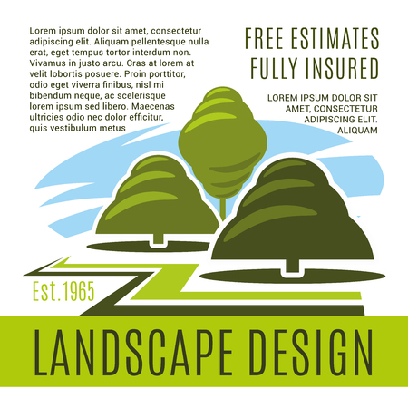 Vector poster for landscape design company