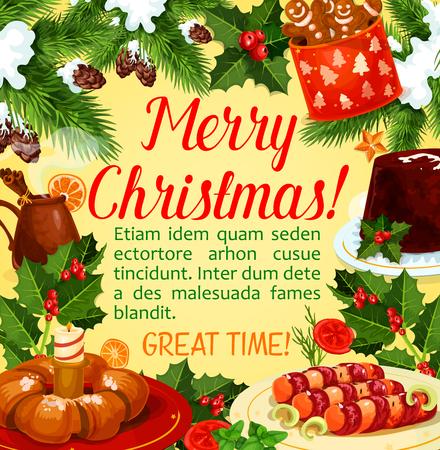 クリスマスホリデーディナーポスタークリスマスデザート