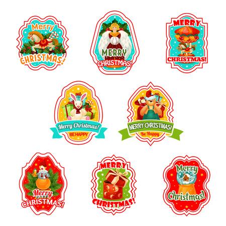 Icone di vettore di festa di buon Natale Archivio Fotografico - 90758502