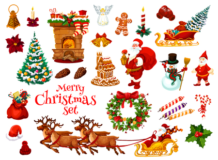 Christmas and New Year holiday icon.