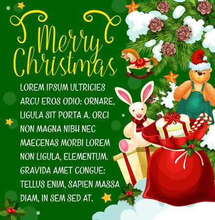 De giftkaart van Kerstmis van de wintervakantie van het Nieuwjaar