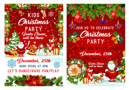 Christmas party and New Year holiday invitation