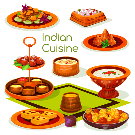 Almuerzo de cocina india con comida asiática tradicional Foto de archivo - 91366342