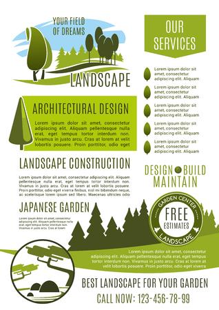 Landscape Design Company Business Banner Template. Landscaping ...