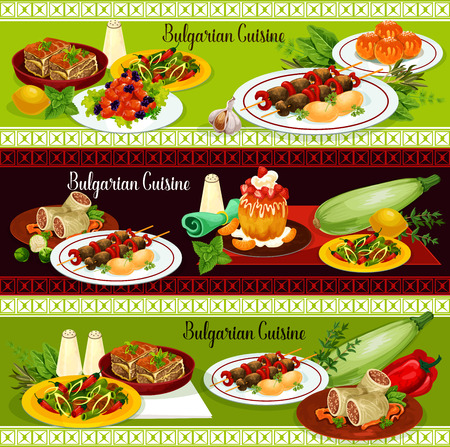Bulgarian restaurant traditional dinner banner