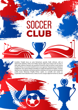 Soccer sport club banner for football competition Иллюстрация